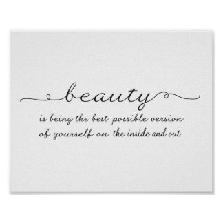 Beauty quote - Art Print