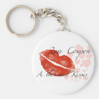 Beauty red lipstick with hotgirl basic round button keychain