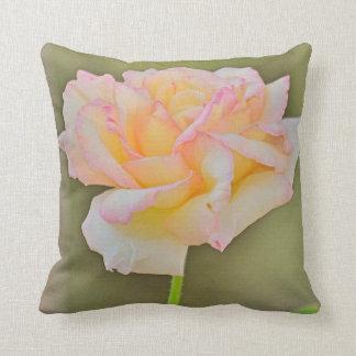 """Beauty Rose"" Cotton Throw Pillow"