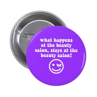 Beauty salon 6 cm round badge