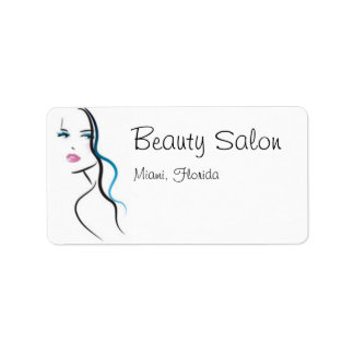Beauty Salon Address Label
