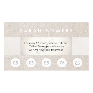 Beauty Salon and Spa 5 Stamp Punch Loyalty Card Pack Of Standard Business Cards