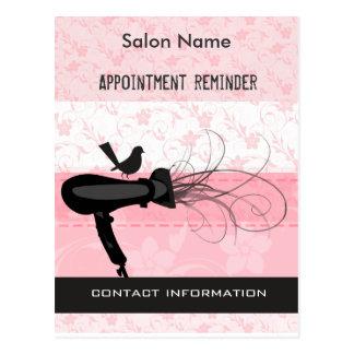 Beauty Salon Appointment Reminder Postcard