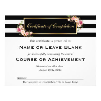 Beauty Salon Course Certificate of Completion Flyer