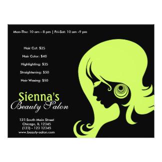 Beauty Salon (Dark Olive Green) 21.5 Cm X 28 Cm Flyer