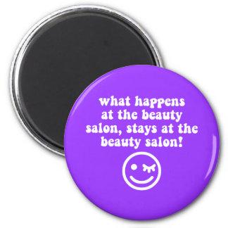 Beauty salon magnet