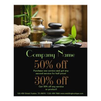 beauty salon massage zen bamboo SPA Flyer