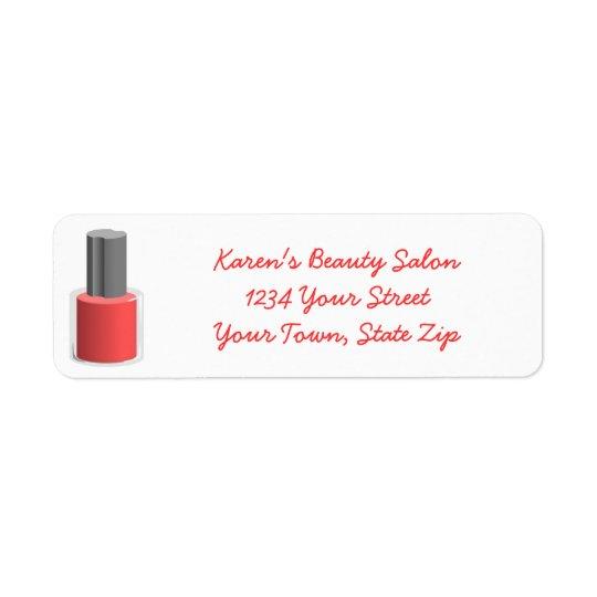 Beauty Salon Nail Polish Return Address Labels
