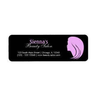 Beauty Salon (Plum) Return Address Label