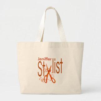 Beauty Salon Professional  Stylist Design Jumbo Tote Bag
