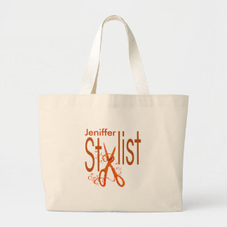 Beauty Salon Professional  Stylist Design Large Tote Bag
