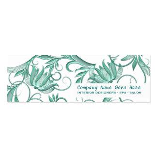 Beauty salon spa floral swirl business cards