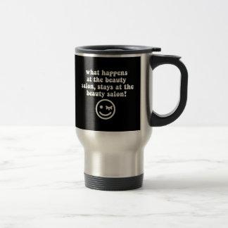Beauty salon stainless steel travel mug