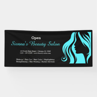 Beauty Salon (turquoise) Banner