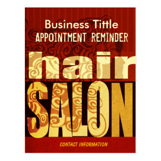 Beauty Salons Spa Hair Stylist Urban Mod Postcard