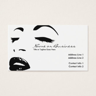 beauty silhouette business card