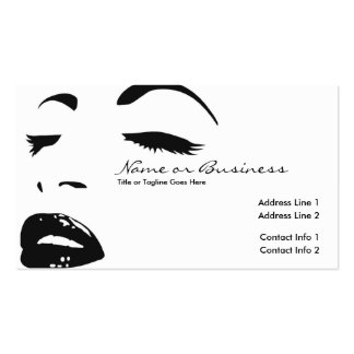 beauty silhouette pack of standard business cards