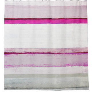 'Beauty Sleep' Pink and Grey Abstract Art Shower Curtain