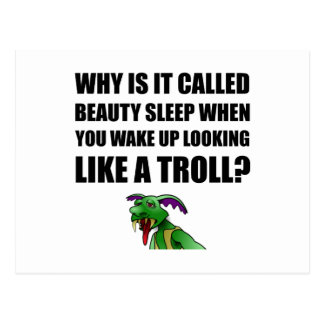 Beauty Sleep Troll Postcard