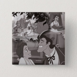 Beauty & The Beast | Belle & Gaston 15 Cm Square Badge