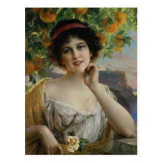 Beauty Under the Orange Tree Postcard