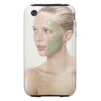beauty, wet, spa, hair up, blonde, blue eyes iPhone 3 tough case