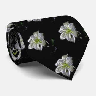 Beauty White Flower Pattern Tie