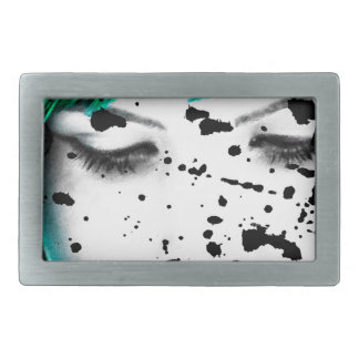 Beauty Woman Close Up Artistic Portrait Belt Buckle