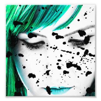 Beauty Woman Close Up Artistic Portrait Photo Print