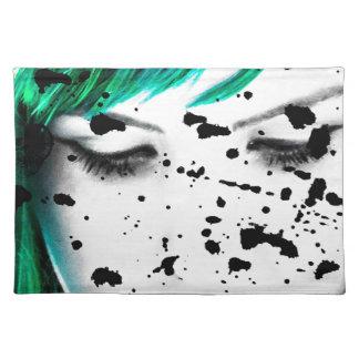 Beauty Woman Close Up Artistic Portrait Placemat