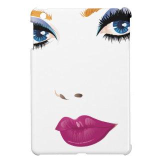 Beauty woman face 2 iPad mini cover