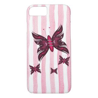 Beautyful red Butterflies iPhone 7 Case