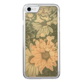 Beauutiful elegant soft green floral design carved iPhone 8/7 case