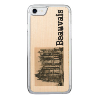 Beauvais - Cathedral replica  postcard 1920 Carved iPhone 8/7 Case