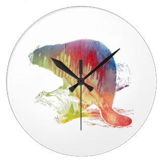 Beaver Art Large Clock