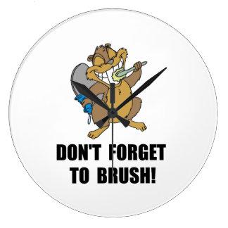 Beaver Brush Large Clock
