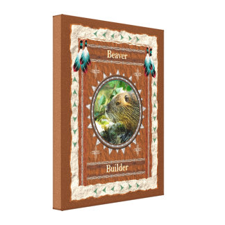 Beaver -Builder- Stretched Wrapped Canvas