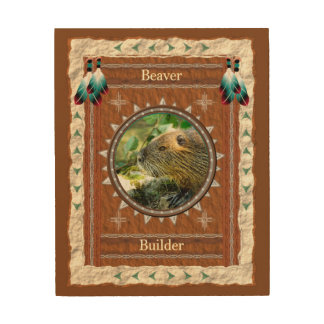 Beaver -Builder- Wood Canvas
