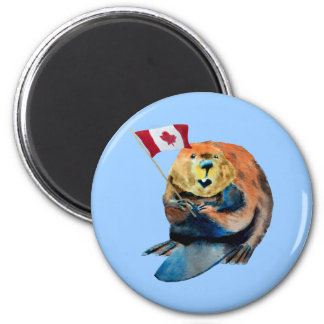 Beaver Canadian Flag Magnet