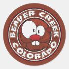 Beaver Creek Circle Classic Round Sticker