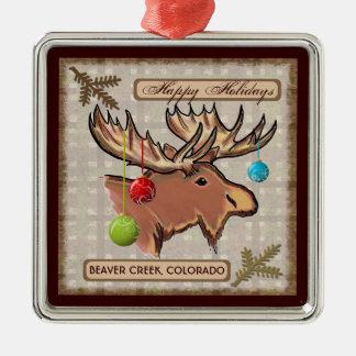 Beaver Creek Colorado artistic moose ornament