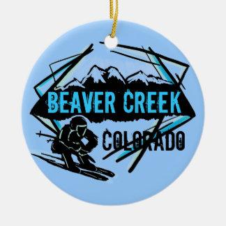 Beaver Creek Colorado blue ski ornament