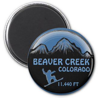Beaver Creek Colorado blue snowboard art magnet