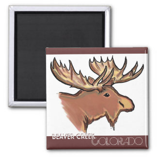 Beaver Creek Colorado brown moose magnet