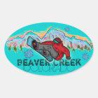 Beaver Creek Colorado mountain snowboard stickers