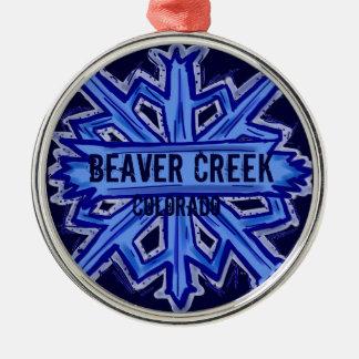 Beaver Creek Colorado snowflake ornament