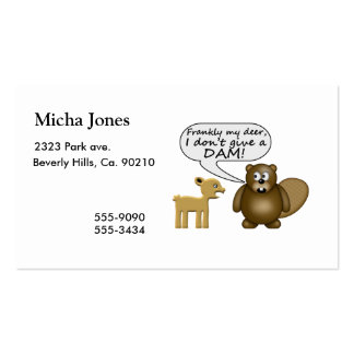 Beaver Don't Give A Dam Business Card Template