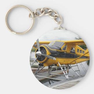 Beaver Float Plane, Lake Hood, Alaska, USA Basic Round Button Key Ring
