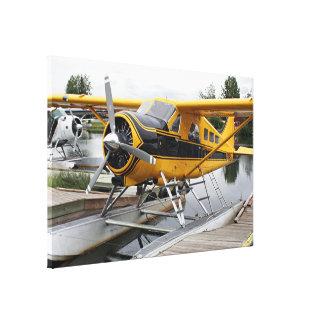 Beaver float plane, Lake Hood, Alaska, USA Canvas Print