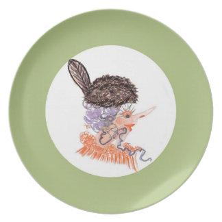 beaver hat plate